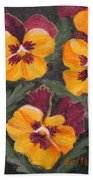 Pansies Are For Thoughts Bath Towel