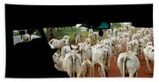 Pantenal Cows Bath Towel