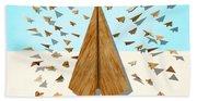 Paper Airplanes Of Wood 10 Bath Towel