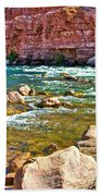 Pariah Riffle Near Lee's Ferry In Glen Canyon National Recreation Area-arizona Bath Towel
