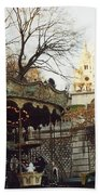 Paris Carousel Merry Go Round Montmartre - Carousel At Sacre Coeur Cathedral  Bath Towel