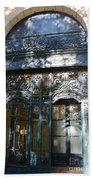 Paris Guerlain Storefront Boutique - Paris Guerlain Blue Door Art Nouveau Art Deco Door Bath Towel