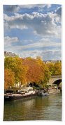 Paris In Autumn Bath Towel