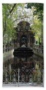 Paris Jardin Du Luxembourg Gardens Autumn Fall  - Medici Fountain Sculpture Autumn Fall Photographs Bath Towel