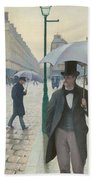 Paris Street In Rainy Weather Bath Towel