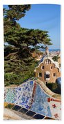 Park Guell In Barcelona Hand Towel