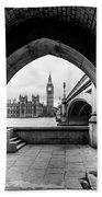 Parliament Through An Archway Bath Towel