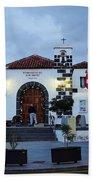 Parraquia De San Amaro. Puerto De La Cruz By Night Bath Towel