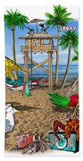 Parrot Beach Party Hand Towel