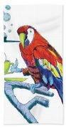 Parrot Cartoon Bath Towel