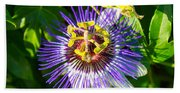 Passion Fruit Flower Hand Towel