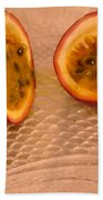 Passion Fruit On Fish Plate 11-3-13 Bath Towel