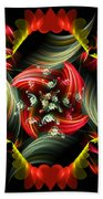 Passionate Love Bouquet Abstract Bath Towel
