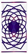 Passionate Purple Prayers Abstract Chakra Art By Omaste Witkowsk Bath Towel