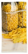 Pasta Shapes Still Life Hand Towel