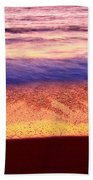 Pastel - Abstract Waves Rolling In During Sunset. Bath Towel