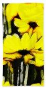 Pastel Flowers Bath Towel