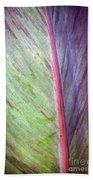 Pastel Leaf Detail Bath Towel