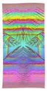 Pastel Rainbow Reverberations Bath Towel