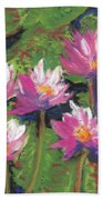 Pastel Water Lilies I  Bath Towel