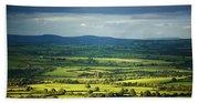 Pastoral Fields, Near Clonea, County Bath Towel