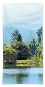 Pastoral Pond And Valley Bath Towel