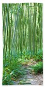 Path Through Bamboo Forest Bath Towel