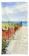 Path To East Beach-watch Hill Ri Bath Towel
