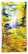 Path To The Fall Hand Towel
