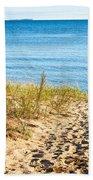Path To The Lake Superior Beach Bath Towel