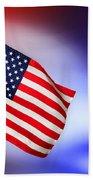Patriotic American Flag Bath Towel