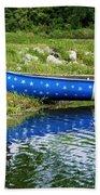 Patriotic Canoe #1 Bath Towel