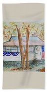 Patriotic Cottage Bath Towel