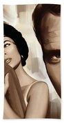 Paul Newman Artwork 2 Bath Towel