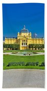 Pavillion In Green Park Of Zagreb Bath Towel