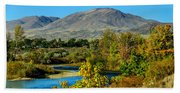 Payette River And Squaw Butte Hand Towel