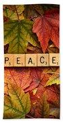 Peace-autumn Bath Towel