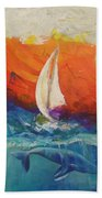 Peace Below The Surface Bath Towel