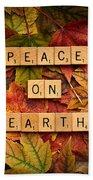 Peace On Earth-autumn Bath Towel
