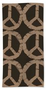 Peace Symbol Collage Hand Towel