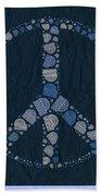 Peace Symbol Design - Bld01t01   Bath Towel