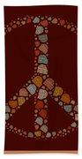 Peace Symbol Design - S05d Bath Towel