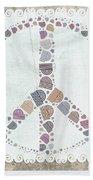 Peace Symbol Design - S76at02 Bath Towel