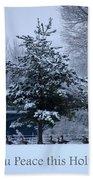 Peaceful Holiday Card - Winter Landscape Bath Towel