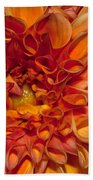Peach Dahlia Bath Towel