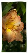 Peach Daylily Delight Bath Towel