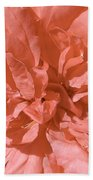 Peachy Pink Jasper Rose Bath Towel
