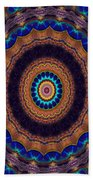 Peacock Pinwheel Bath Towel