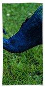 Peacock Portrait 4 Bath Towel