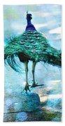 Peacock Walking Away Bath Towel